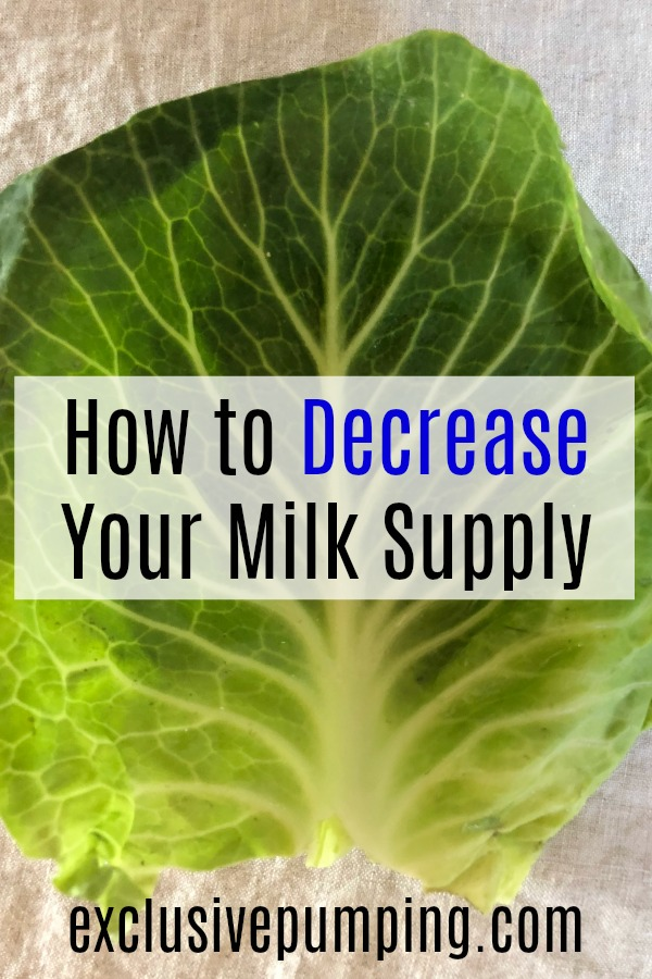 How to Decrease Your Milk Supply