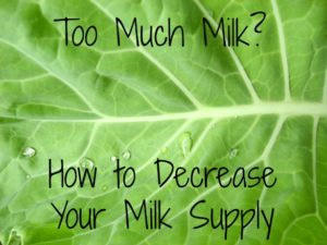 decrease-milk-supply