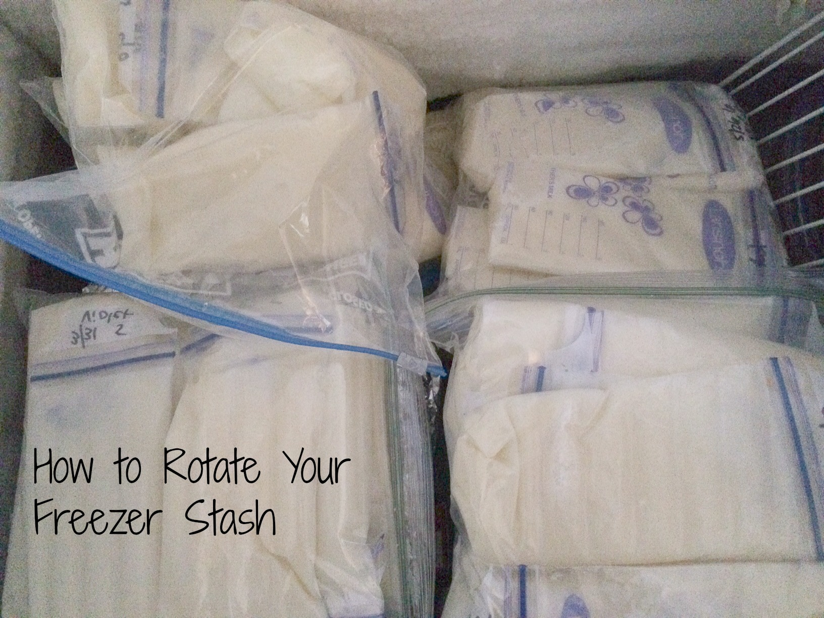 how to rotate your freezer stash
