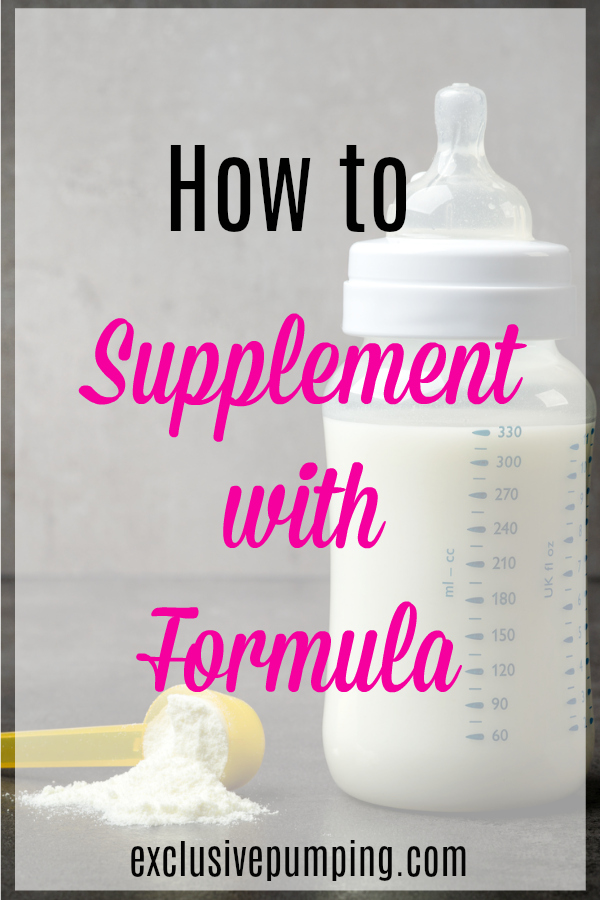 Supplementing Breast Milk With Formula - Exclusive Pumping-1090