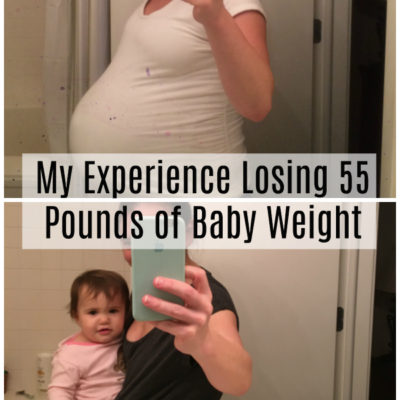Weight Loss Baby Weight Before and After Photo