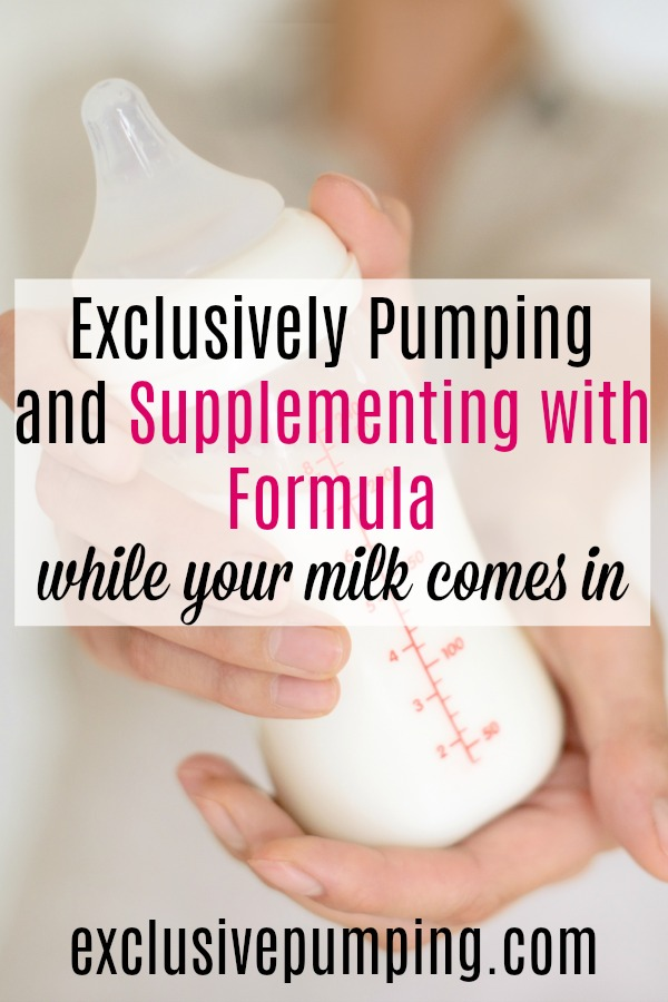 exclusively pumping and supplementing with formula