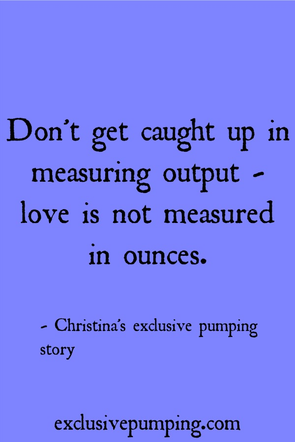 Christina's exclusive pumping story