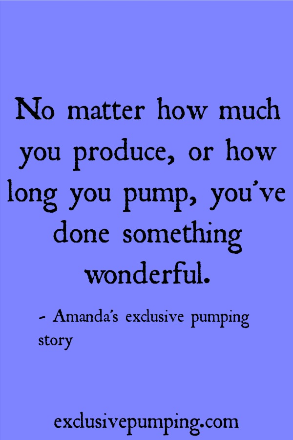Amanda's exclusive pumping story
