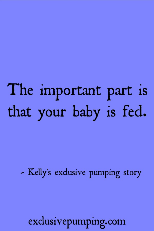 Kelly's exclusive pumping story