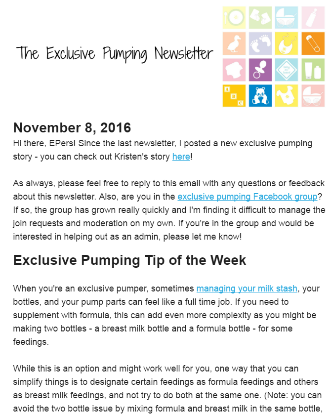 Exclusive Pumping Newsletter