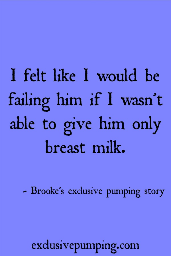 Brooke's exclusive pumping story