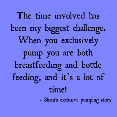 Shani's Exclusive Pumping Story