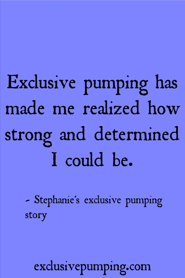 Stephanie's exclusive pumping story