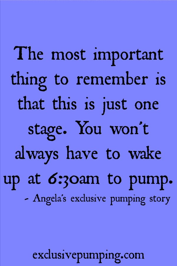 Angela's Exclusive Pumping Story