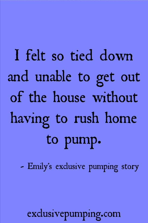 Emily's Exclusive Pumping Story