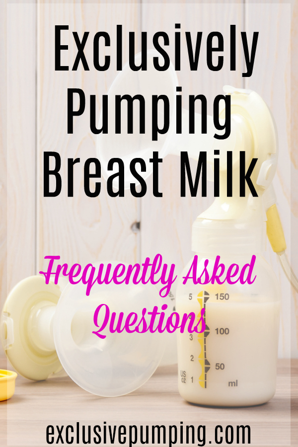 Exclusive Pumping Questions