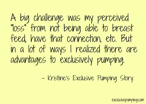 exclusive pumping story