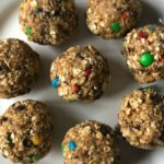 No Bake M&M and Chocolate Chip Lactation Bites