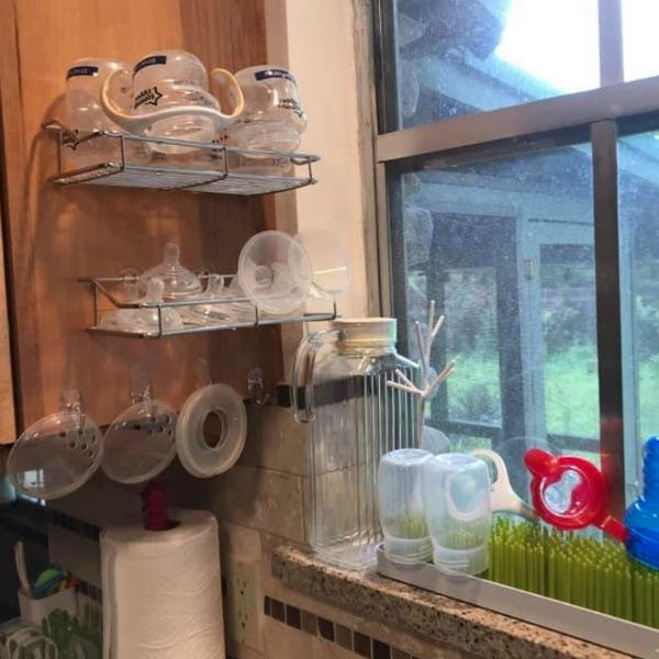 Shower Shelf Bottle Station
