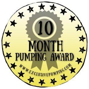 Ten Month Pumping Award