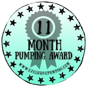 Eleven Month Pumping Award