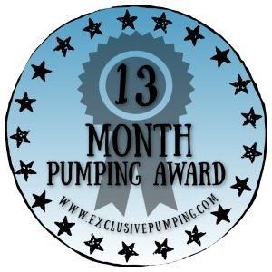 13 Month Pumping Award
