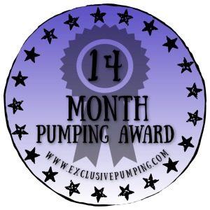 14 Month Pumping Award