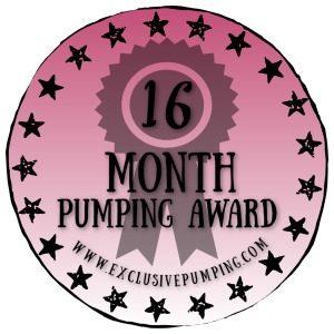 16 Month Pumping Award