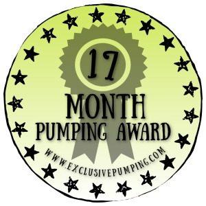 17 Month Pumping Award