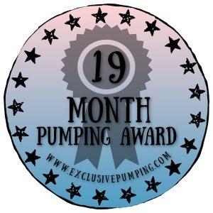 19 Month Pumping Award