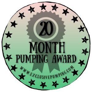 20 Month Pumping Award