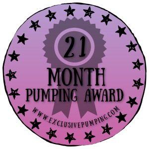 21 Month Pumping Award