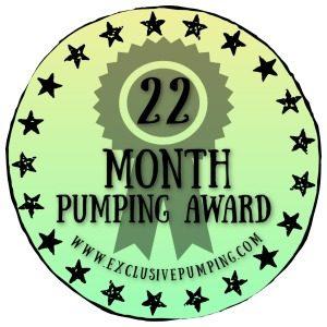22 Month Pumping Award