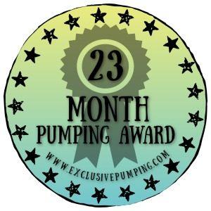 23 Month Pumping Award