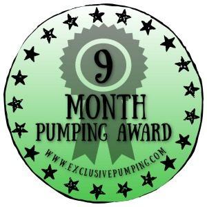 Nine Month Pumping Award